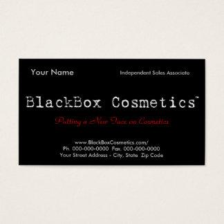 Cartes De Visite Cosmétiques de boîte noire, ventes indépendantes