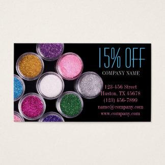 Cartes De Visite Cosmetologist coloré de maquilleur de cosmétiques