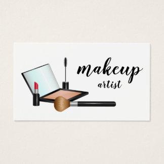 Cartes De Visite Cosmetologist de maquilleur de produits de