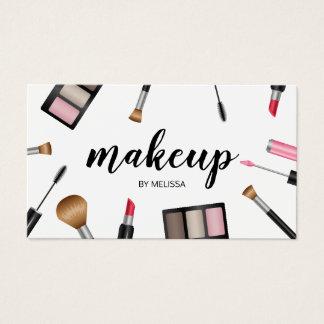 Cartes De Visite Cosmetologist de maquilleur d'illustration de