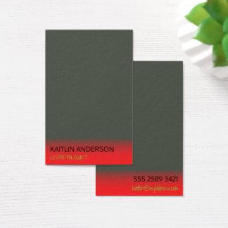 Cartes De Visite Cosmetologist rouge en ivoire de brume de charbon