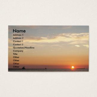 Cartes De Visite Couchers du soleil, voiliers et phare