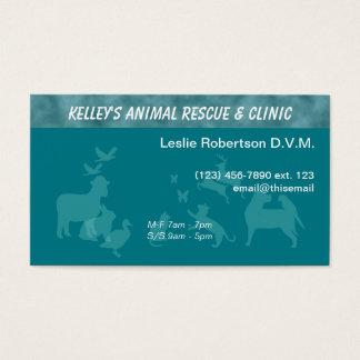Cartes De Visite Couleur d'U-sélection de docteur services animaux