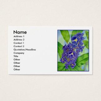 Cartes De Visite Couleur pour aquarelle bleue de gingembre