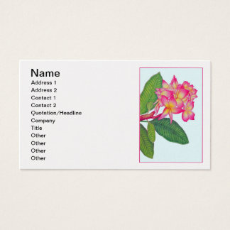 Cartes De Visite Couleur pour aquarelle de Frangipani