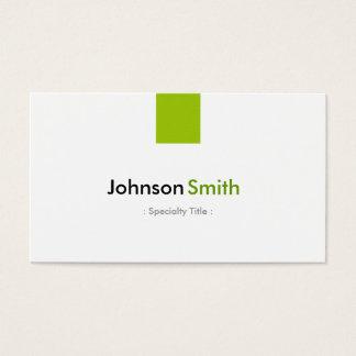 Cartes De Visite Couleur verte en bon état simple moderne -