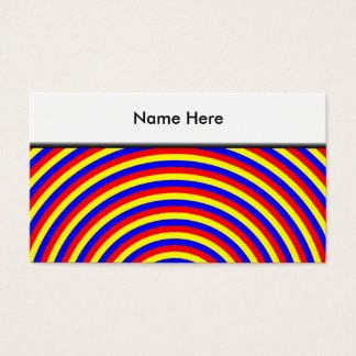 Cartes De Visite Couleurs primaires. Spirale lumineuse et colorée