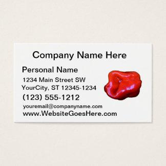 Cartes De Visite coupe-circuit simple de habanero rouge