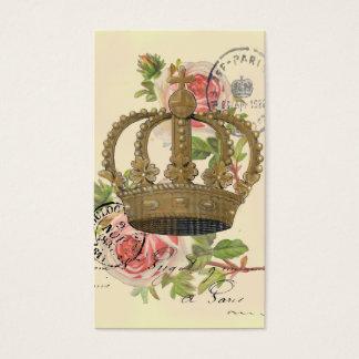 Cartes De Visite Couronne et roses