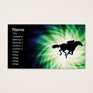 Cartes De Visite Course de chevaux ; Cool