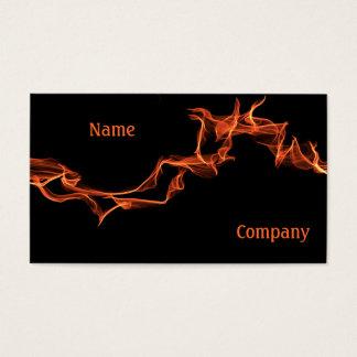 Cartes De Visite Coutume de flammes personnalisée