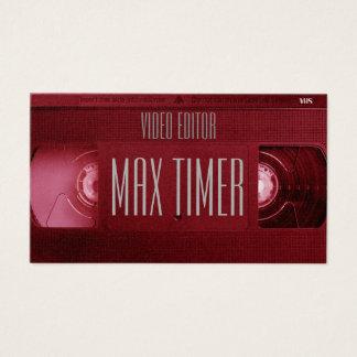 Cartes De Visite Couverture de cassette vidéo de cassette de VHS