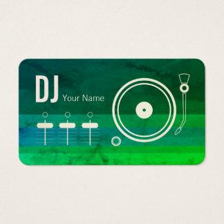 Cartes De Visite Couverture moderne de tourne-disque du DJ de