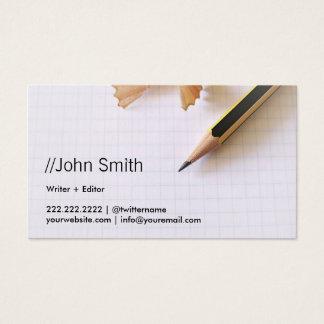 Cartes De Visite Crayon pointu propre d'auteur/rédacteur