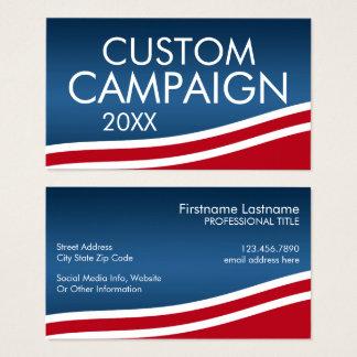 Cartes De Visite Créez votre propre conception d'élection