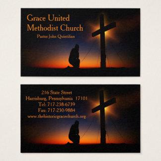 Cartes De Visite Croix sainte au coucher du soleil (personnalisez)