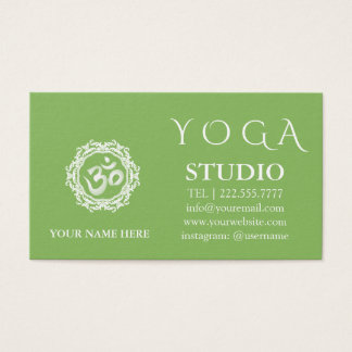 Cartes De Visite Cru de mandala d'instructeur de yoga