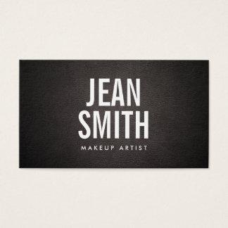 Cartes De Visite Cuir audacieux d'obscurité de typographie de