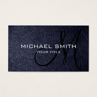 Cartes De Visite Cuir bleu noir