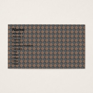 Cartes De Visite Cuir Checkered