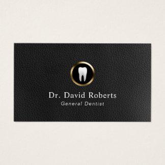 Cartes De Visite Cuir de rendez-vous et dentiste dentaires de