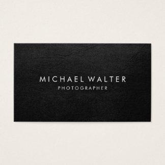 Cartes De Visite Cuir minimaliste professionnel de Faux