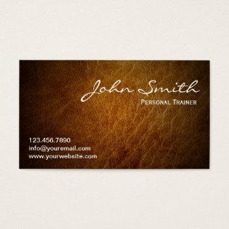 Cartes De Visite Cuir personnel de professionnel d'entraîneur de