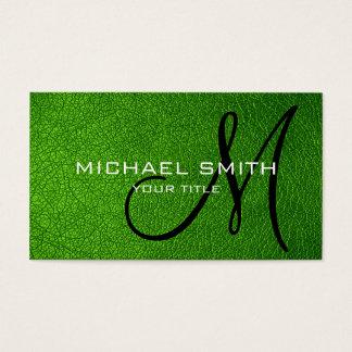 Cartes De Visite Cuir vert