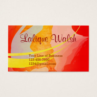 Cartes De Visite Customisez les deux côtés d'aquarelle de Sienna