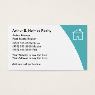 Cartes de visite d'agent immobilier