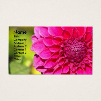 Cartes De Visite Dahlia rose lumineux floral