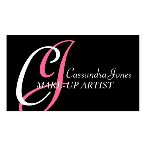 Cartes de visite d'artiste de maquillage cartes de visite professionnelles