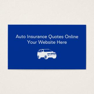 Cartes de visite d'assurance automobile