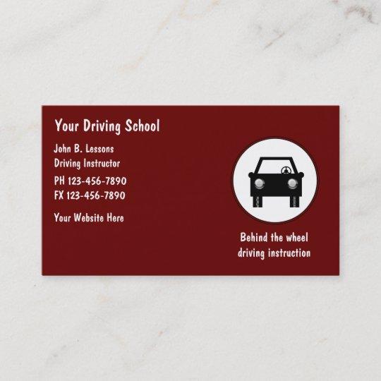 Cartes De Visite Dauto Ecole