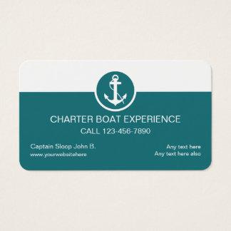 Cartes de visite de bateau de charte