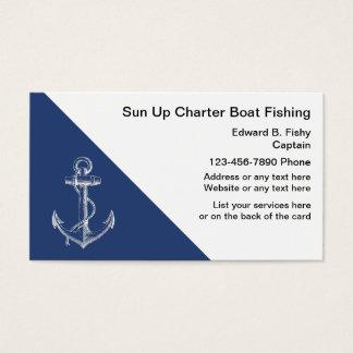 Cartes de visite de bateau de pêche