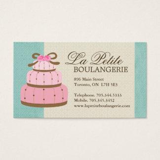 Cartes de visite de boulangerie de gâteau