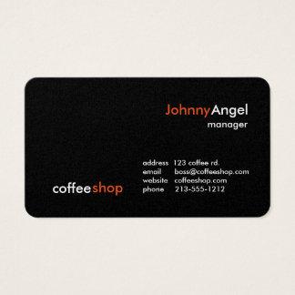 Cartes de visite de café-restaurant