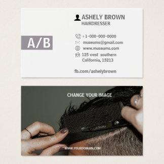 Cartes de visite de coiffeur, styliste en