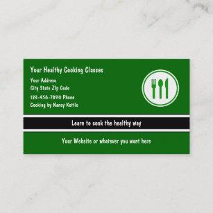 Cartes De Visite Cours Cuisine Personnalisees