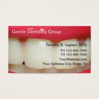 Cartes de visite de dentiste