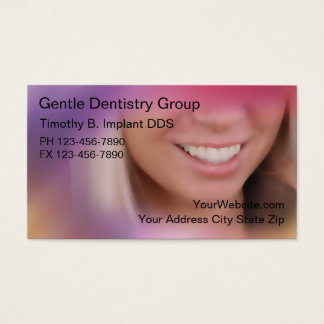 Cartes de visite de dentiste carte de visite standard