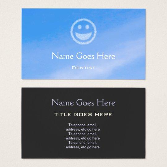 "Cartes de visite de dentiste ""de ciel bleu"""