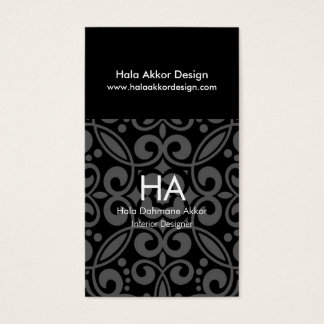 Cartes de visite de dessinateur d'intérieurs