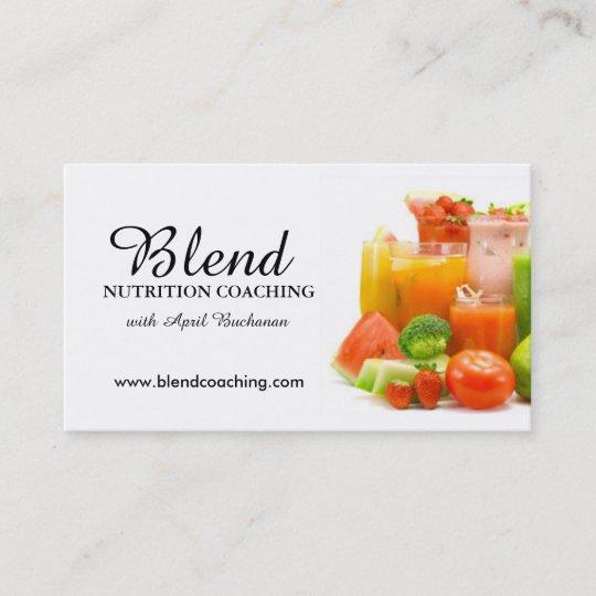 Cartes De Visite Entrainement Nutrition