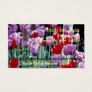 Cartes de visite de fleuriste