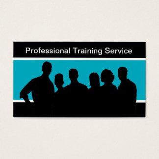 Cartes de visite de formation du personnel
