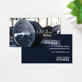 Cartes de visite de forme physique de poids