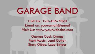 Cartes De Visite Groupe Musique
