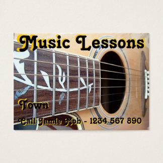 Cartes de visite de leçons de musique
